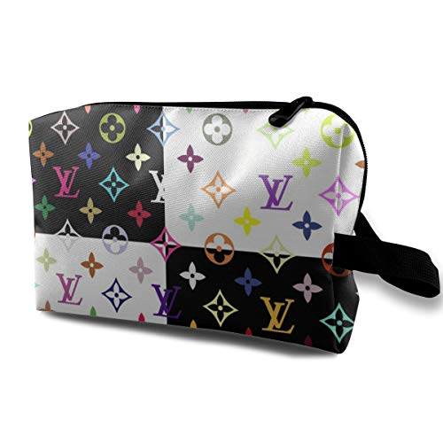 Cosmetic Bags Colorful LV Portable Toiletry Makeup Bag with Zipper Wallet Hangbag Pen Organizer Carry Case Wristlet Holder