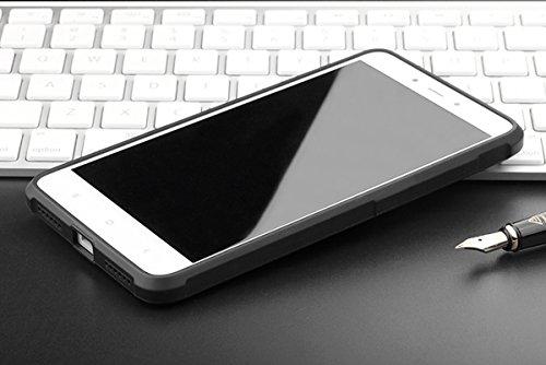 Xiaomi Redmi Note 4 Kasten, CaseFirst Ultra Thin Anti-Klopfen Gummi Case Shockproof Soft Silikon Schutzmaßnahmen zurück Fall Deckung für Xiaomi Redmi Note 4 (Hellgrau) Schwarz