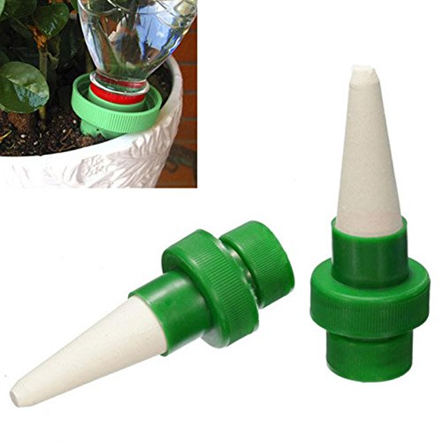 Ground Sprinklers 2Pcs Automatic Plant Ceramic Water Nozzle Garden Drip Watering Tool