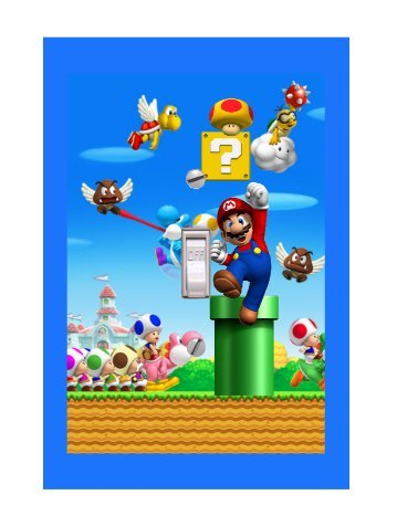 r Mario Video Game Lightswitch Cover- Super Mario Decor ()