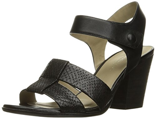 Naturalizer Womens Yolanda Leather Open Toe Casual Ankle Strap Sandals Black