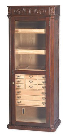 Quality Importers Trading HUM-2000ENG Old English Furniture Humidor ()