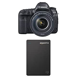 Canon EOS 5D Mark IV Full Frame Digital SLR Camera with EF 24-105mm f/4L IS II USM Lens Kit with Seagate 1TB Hard Drive and 1-Year Amazon Drive (B01NBJUQUZ) | Amazon price tracker / tracking, Amazon price history charts, Amazon price watches, Amazon price drop alerts