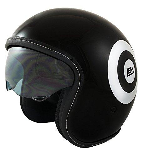 19cf36bf35b Casco Moto LEM - Sport Dart- NEGRO BRILLO (XS)  Amazon.es  Coche y moto