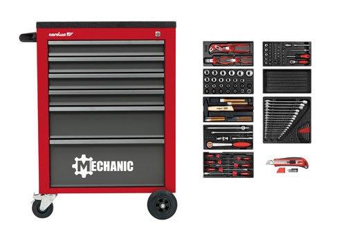 Carolus Germany Workshop trolley MECHANIC red with tool set 5801