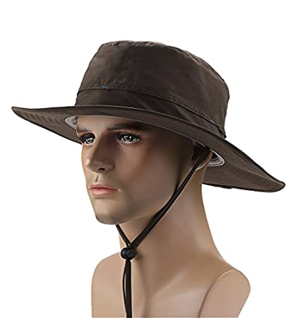 Amazon.com  Sumolux Mens Womens Outdoors Fishing Large Brim Sun ... 52cdeacb24e