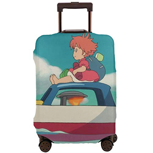 Anime Girl Boat Ponyo On The Cliff Travel Luggage Cover Suitcase Protector Washable Baggage Luggage Covers Zipper Fits…