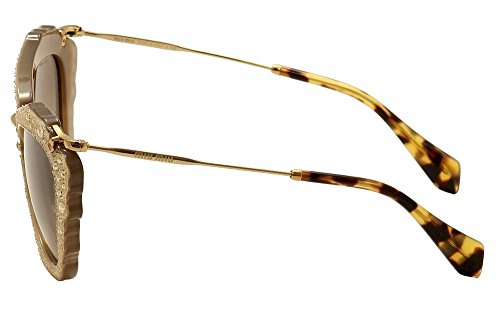 Miu Miu MU04QS MAR3D0 Opal Beige Noir Cats Eyes Sunglasses Lens Category 2 Size