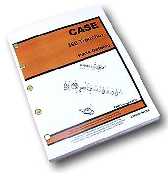 case 360 trencher repair manual