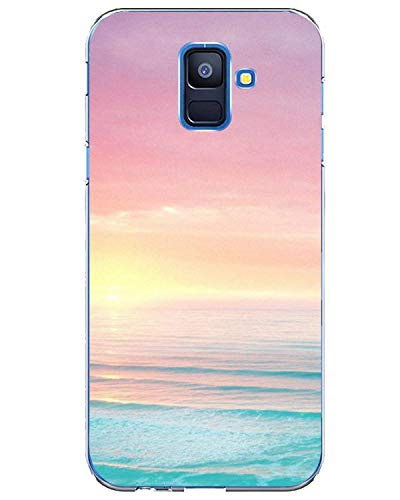Matop Case Compatible for Samsung Galaxy A6 (2018) Case Clear Thin Ultra Design Soft TPU Shockproof Protective Slim Bumper No-Slip Anti-Scratch Pattern Shell Cover Nature (sea)