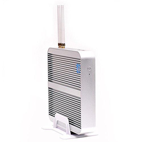 Kingdel Fanless Home Computer, Windows 10 HTPC with intel i5-4200U CPU, 8GB RAM, 1TB HDD, HDMI, VGA, 4USB 3.0, WiFi, Metal Case by KINGDEL (Image #2)
