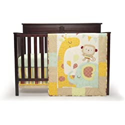 Graco 3 Piece Crib Bedding Set, Monkey Jungle Friends unisex