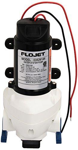 Flojet 03526-144A Triplex Diaphragm Automatic Water System Pump, 2.9 GPM 50 PSI, 12 volt DC by Flojet by by Flojet