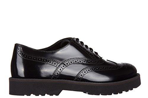 Hogan scarpe stringate classiche donna in pelle nuove h259 route francesina buca