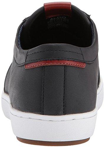 ... Aldo Menns Iberarien Mote Sneaker, Sort Skinn, 7,5 D Oss ...