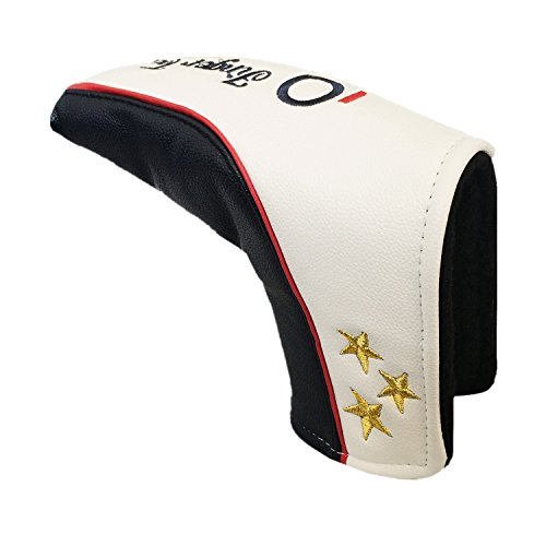 Golf Head Covers Wood Driver Fairway Rescue Putter Club Cover Sold in Seperate, Deluxe Synthetic Leather 1 3 X Headcover for Men Women, Fit 460CC Taylormade Callaway Titleist Ping Nike - Headcovers Putter Futura