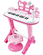 Pink 31 Key Kids Electronic Keyboard Piano Organ Toy/Microphone Music Play kids Educational Toy Gift For Children