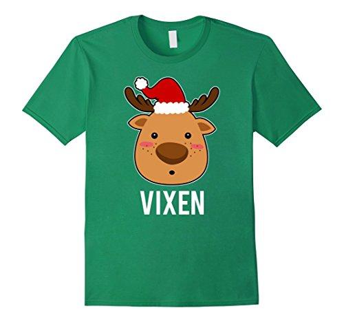 Mens Santa Reindeer Vixen T-Shirt Christmas Group Costume Tee 3XL Kelly (Vixen Reindeer Costumes)
