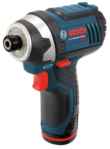 Bosch PS41-2A 12-Volt Max Lithium-Ion 1/4-Inch Hex Impact Driver Kit with 2 Batteries, Charger and Case Bosch Impact Drill