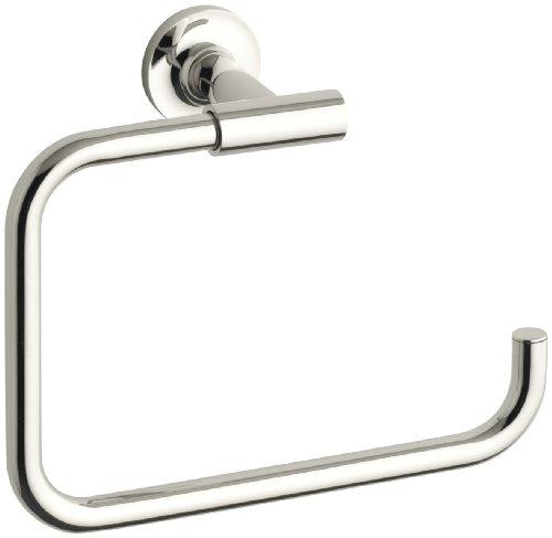 KOHLER K-14441-SN Purist Towel Ring, Vibrant Polished Nickel -