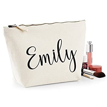 edfe08f146c0 Amazon.com : Personalized Name Makeup Bag Wash Travel Make Up Bag Organizer Cosmetics  Bag Accessory Case Gifts for Women, Girls : Beauty