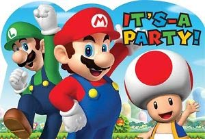 Hallm Super Mario Brothers Decoration Party Birthday Invitations Invite Supplies 24Pieces