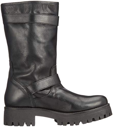 Black969 Black Boots 00 Biker Women's Meadow Iberocrust Leather Buffalo q0RYxw