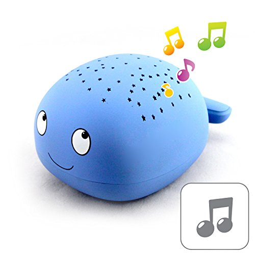 Whale Easy Clean, Twilight Constellation Star Projector Night Light with 4 Soothing Lullabies Sound Machine by Lumitusi