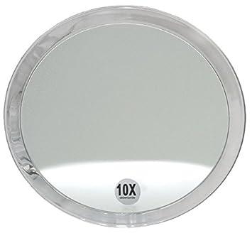 Kosmetex mit verschiedenen Vergr/ö/ßerung und Saugn/äpfen Runder 7-fach Kosmetik-Spiegel /Ø 23cm 7-fach
