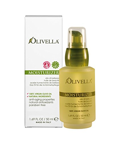 Olive Oil Facial - Olivella All Natural Virgin Olive Oil Moisturizer From Italy (50ml) 1.69 Fluid Ounces