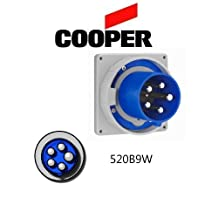 Cooper Wiring Devices AH520B9W Inlet Pin&Slv 20A120/208V 3PH 4P5W WT BL