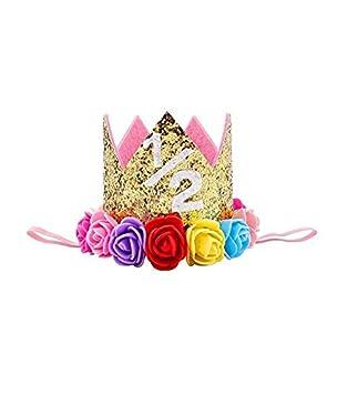 Toyonee Baby Birthday Corona Corona Fiesta Corona Pelo Rendimiento Foto Tocado