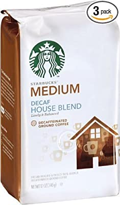 Starbucks Ground Coffee Decaf House Blend Medium by Starbucks