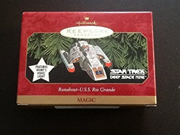 - QXI7593 Runabout U.S.S. Rio Grande Star Trek Deep Space Nine 1999 Hallmark Kepsake Ornament