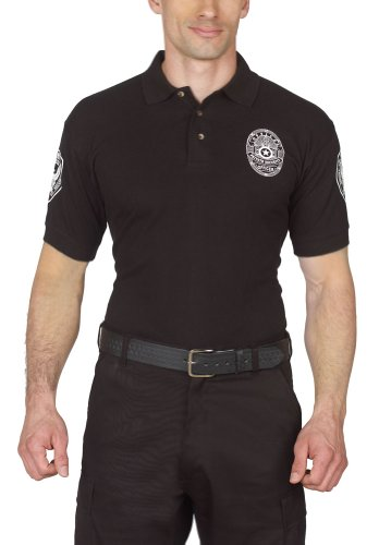 Security Polo Shirt Deluxe 100% Cotton Pre-shrunk Black with White Letters - Buy Online in UAE ...