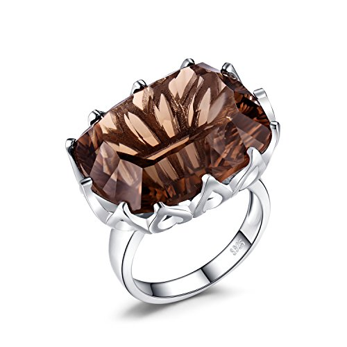 Smoky Quartz Cubic Zirconia Ring - 7