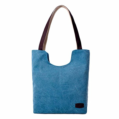 Large Shopping Pure Shoulder Classic Blue Bag Handbag Travel Sky Women Fashion Laides Canvas Zerototens Bags Bags Large Totes Color Casual Handbags Capacity Business xwOSK