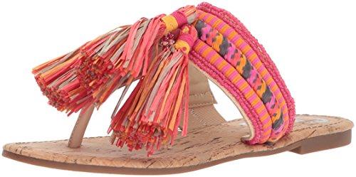 Circus by Sam Edelman Women's Bella Flat Sandal, Natural Naked/Pink Magenta Multi, 8.5 Medium ()