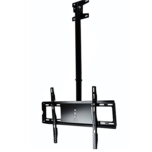 Henxlco Adjustable Ceiling TV Wall Mount Tilt Bracket Fits most 26 28 32 40 42 47 50 55″ LCD LED Plasma Monitor Flat Panel Screen Display with VESA 400×400 400×300 400×200 300×300 300×200 200x200mm