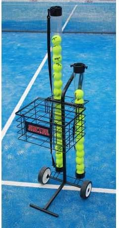 Carro PORTAPELOTAS Tenis Y Padel - 80 Pelotas Softee - Color Negro ...