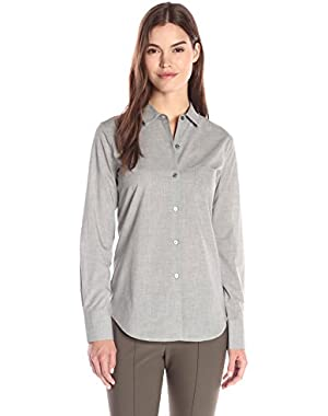 Theory Women's Weylend Icon Button Front Shirt