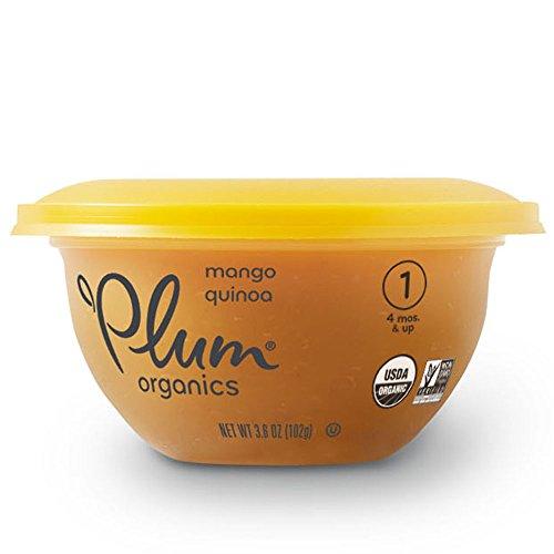 Plum Organics Baby Stage 1 Bowl, Organic Baby Food, Mango & Quinoa, 3.6 ounce bowl (Pack of 12)