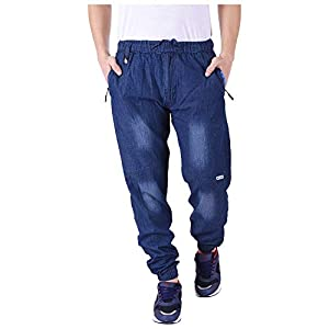 Mountain Colours Solid Men's Denim Blue Track Pants (MC_3358_Blue)