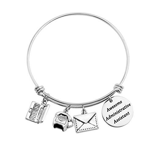 SEIRAA Administrative Assistant Bracelet Secretary Gift Office Worker Expanded Bracelet Admin Gift for Her (Assistant Bracelet)