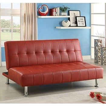 Amazon.com: furniture of america polipiel futón sofá con ...