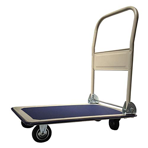 UPT Platform Truck Hand Cart - Folding Collapsible Warehouse Dolly - 330 Lbs (Electric Platform Truck)