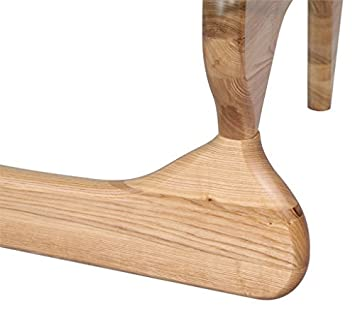 Emorden Furniture Triangle Coffee Table Legs Natural(Only Foot), 2 Pieces  Interlocking Solid