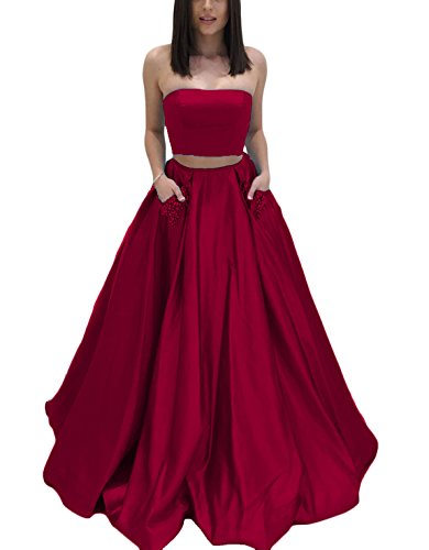 2 Piece Strapless Wedding Dress - 5
