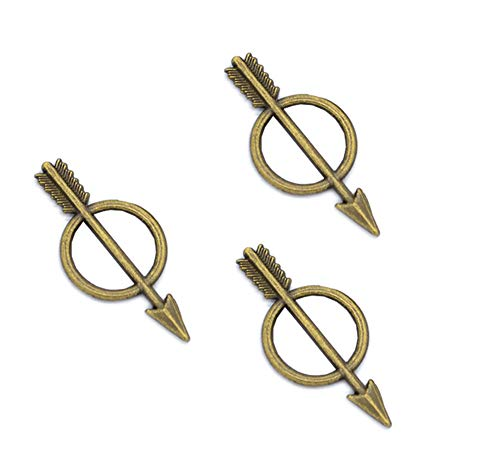 - 100pcs Vintage Antique Bronze Alloy Bow and Arrow Charms Pendant Jewelry Findings for Jewelry Making Necklace Bracelet DIY 29x13mm (100pcs Bronze)