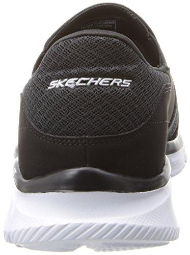 Skechers EqualizerPersistent - zapatilla deportiva de material sintético hombre Negro (BKW)